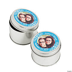 Custom Photo Turquoise Containers