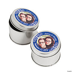 Custom Photo Blue Photo Metal Containers