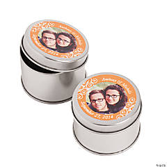 Custom Photo Orange Photo Metal Containers
