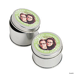 Custom Photo Lime Green Photo Metal Containers