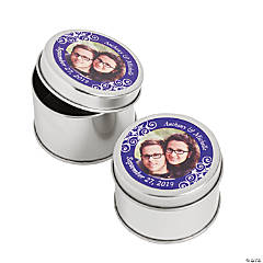 Custom Photo Purple Photo Metal Containers