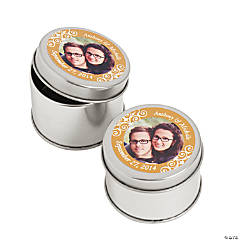 Custom Photo Gold Photo Metal Containers