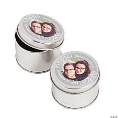 Custom Photo Silver Photo Metal Containers