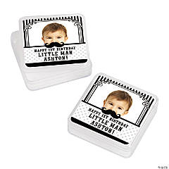 Personalized 1st Birthday Mustache Custom Photo Square Containers