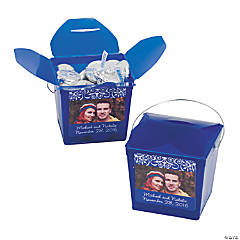 Blue Custom Photo Take Out Boxes