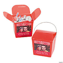 Red Custom Photo Take Out Boxes