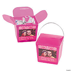 Hot Pink Custom Photo Take Out Boxes