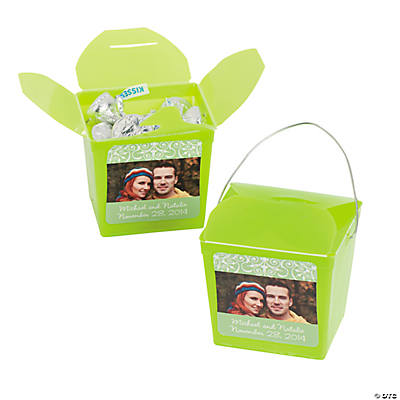 Lime Green Custom Photo Take Out Boxes