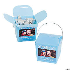 Light Blue Custom Photo Take Out Boxes