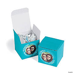 Turquoise Custom Photo Gift Boxes