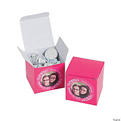 Hot Pink Custom Photo Gift Boxes