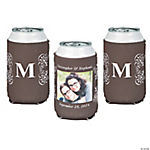 Chocolate Brown Custom Photo Can Covers