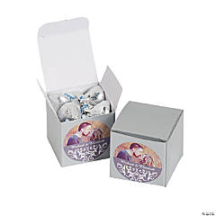 Custom Photo Silver Swirl Gift Boxes