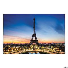 Eiffel Tower Backdrop Banner
