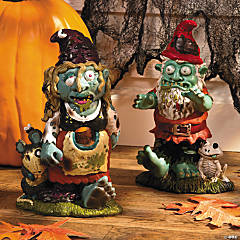 Zombie Boy & Girl Gnome Set