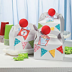 DIY 1st Birthday Circus Favor Tags Idea