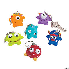 Plastic Monster Key Chains Collectable Series 2
