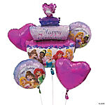 Princess Birthday Mylar Balloon Bouquet