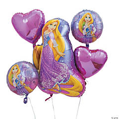 Princess Rapunzel Mylar Balloon Bouquet