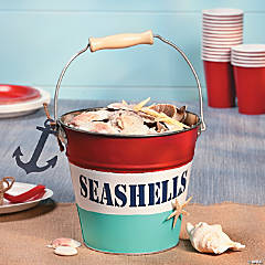 """Seashells"" Tin Pail"