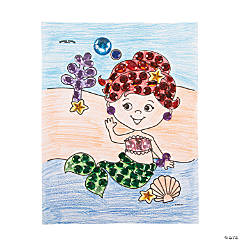 Jeweled Mermaid Template Idea
