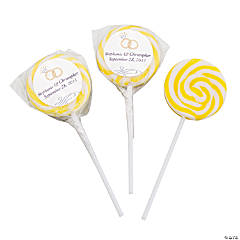 Personalized Wedding Ring Yellow Swirl Pops