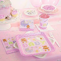 Teddy Baby Pink Party Supplies