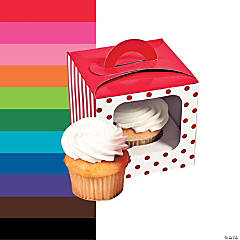 Polka Dot Cupcake Box with Handle