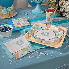 Tiny Toes Blue Party Supplies