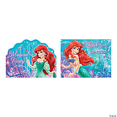 Little Mermaid Sparkle Invite/Thank You Cards