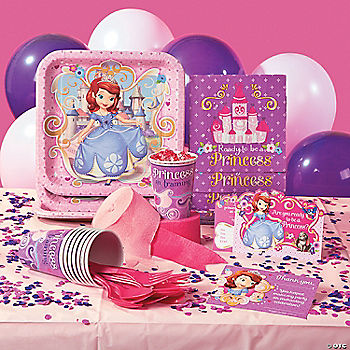 sofia the first party supplies. Black Bedroom Furniture Sets. Home Design Ideas
