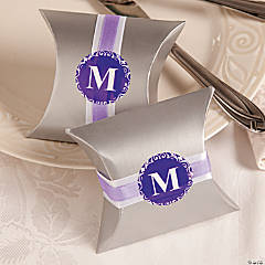 Monogram Wedding Pillow Boxes Idea