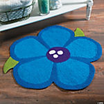Purple Poppy Hooked Rug