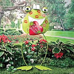 Frog Prince Yard Stake