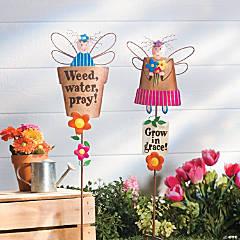 Spring Garden Angel Yard Stakes