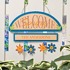 Personalized Welcome Spring Sign