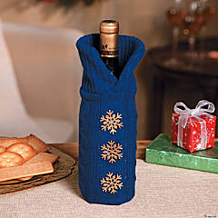 Navy Sweater Bottle Bag