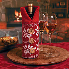 Red Sweater Bottle Bag