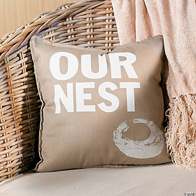 """Our Nest"" Throw Pillow"