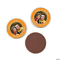 Orange Custom Photo Chocolate Coins