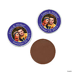 Purple Custom Photo Chocolate Coins