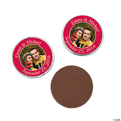 Red Custom Photo Chocolate Coins