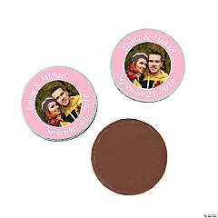 Light Pink Custom Photo Chocolate Coins