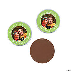 Lime Green Custom Photo Chocolate Coins