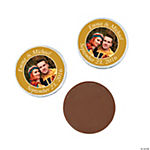 Gold Custom Photo Chocolate Coins