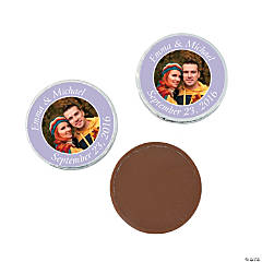 Lilac Custom Photo Chocolate Coins