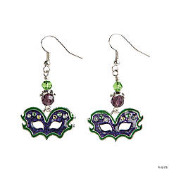 Mardi Gras Mask Earrings Craft Kit