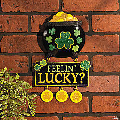 St. Patrick's Day Glittered 3D Sign