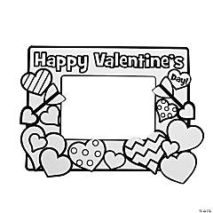 Color Your Own Valentine Picture Frames