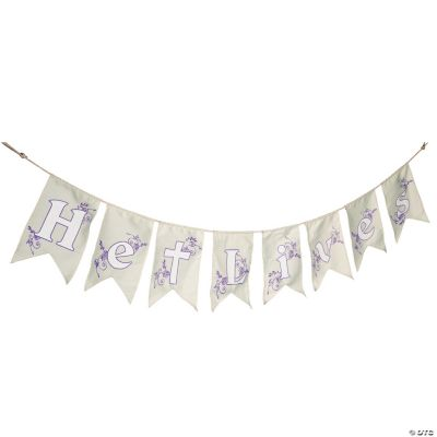 """He Lives"" Pennant Garland"
